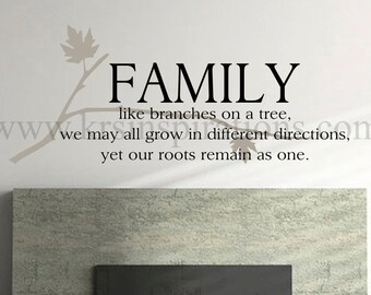 Family Branch wall decal