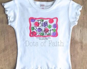 Big Sister Short Sleeve Frilly Shirt