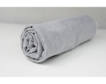 Light Grey Melange Loop Type Knit/ French Terry