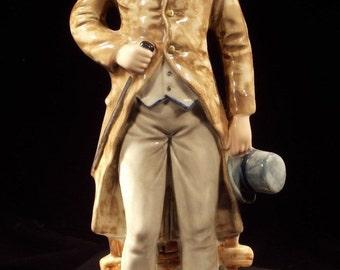 Large Vintage Capodimonte Italian Porcelain Male Figurine Capo Di Monte - 12+ Inches Tall - Free Shipping
