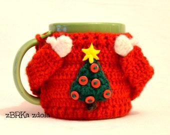 Mug Sweater Knitting Pattern : Crochet coffee cozy Etsy