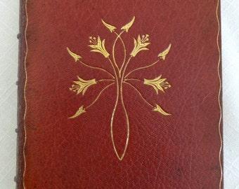 Roycroft Essays of Elia Full Levant Leather 1899, W W Denslow Illumined Initials, 1/40 Limited Edition Book Roycrofters, Lamb, Wizard of Oz