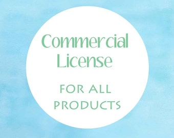 COMMERCIAL LICENSE - no credit required - for all products