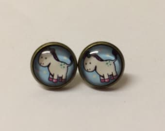 Cute unicorn earrings costume jewellery quirky