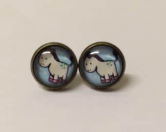 Cute unicorn earrings costume jewellery quirky