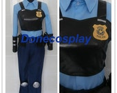 Officer Judy Hopps bunny cosplay costume from Movie ZOOTOPIA officer  judy police uniform any size