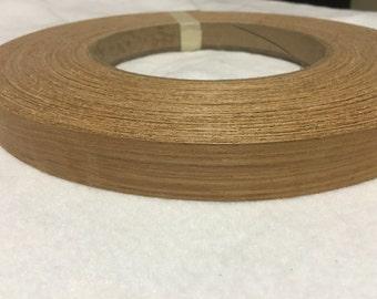 """teak pre glued 13/16"""" to 2""""x20' Wood Veneer Edgebanding"""