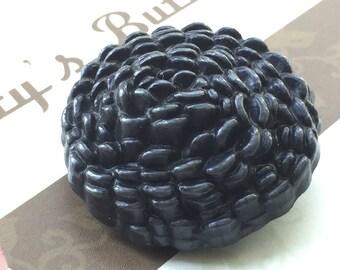 Vintage Buttons - black plastic