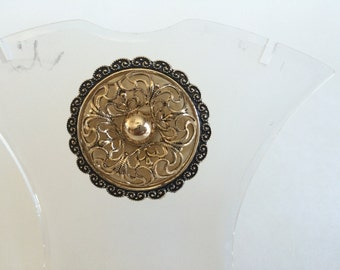 Filigree Design Ornate Scarf Clip Made in West Germany
