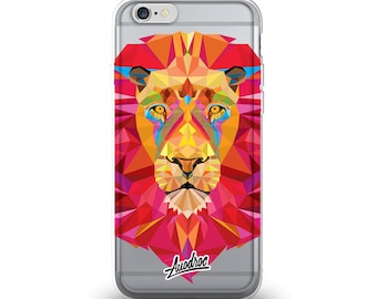 iPhone Case Geometric Lion
