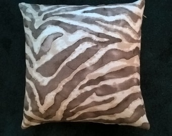 Zebra print throw pillow cover 19X19