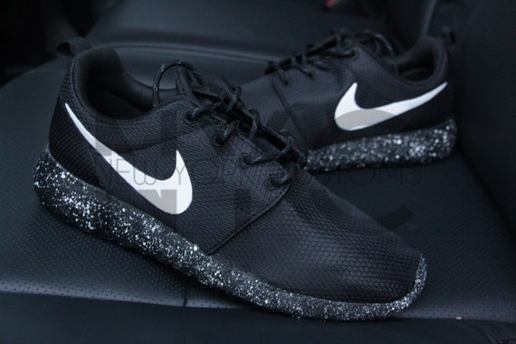 5675aefe7894 new Oreo Nike Roshe One Run Black White Splatter Speckle by NYCustoms