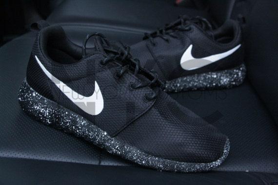 42c5659cd557 new Oreo Nike Roshe One Run Black White Splatter Speckle by NYCustoms