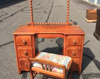 Vintage JB Vansciver Vanity with stool- (mirror not pictured)
