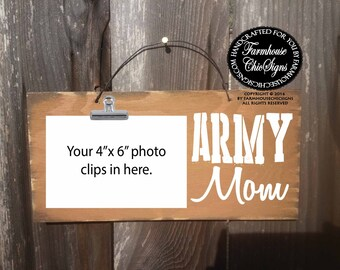 army mom, army mom sign, army mom frame, army mom picture holder, army, gift military, military family, army gift, army mom decoration, 290