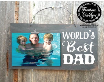gift for dad, dad gift, father gift, world's best dad, dad picture frame, Christmas gift for dad, birthday gift, Father's day gift, 233