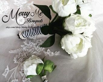 Peony Bouquet - Real Touch Peony Bouquet - Real Touch Bridal Bouquet - True Touch Peony Bouquet - Realistic Peony Bouquet - Real Touch Peony