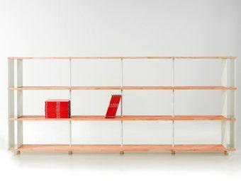 Modular Bookcase SKAFFA WOOD Solid Wood Bücherregal Massiv Holz étagère H.130
