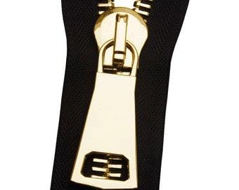 Metal No. 12 Gold Zipper