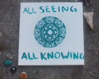 Third eye chakra painting