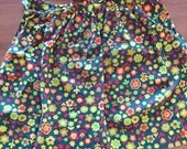 Sweet vintage floral half apron made from cotton, vintage fabric, floral fabric, aprons, kitschy