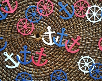 Nautical Confetti / 200 Count / Nautical Decorations / Nautical Wedding Decorations / Nautical Birthday Decorations / Nautical Party Decor