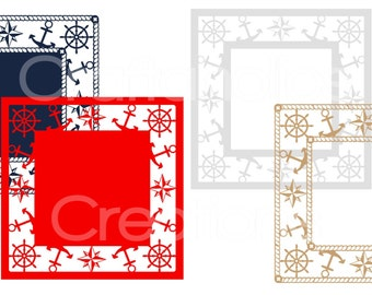 Set of 4 Nautical Frames SVG MTC FCM Formats included