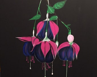 Fuschia painting 18x18