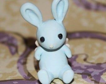 Cute Blue Winged Bunny Polymer