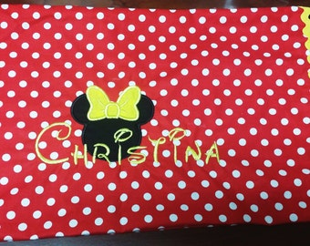 Minnie and Mickey Mouse Travel Size Pillowcase
