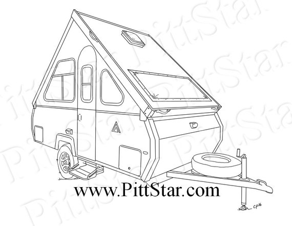 instant download aliner travel trailer printable coloring