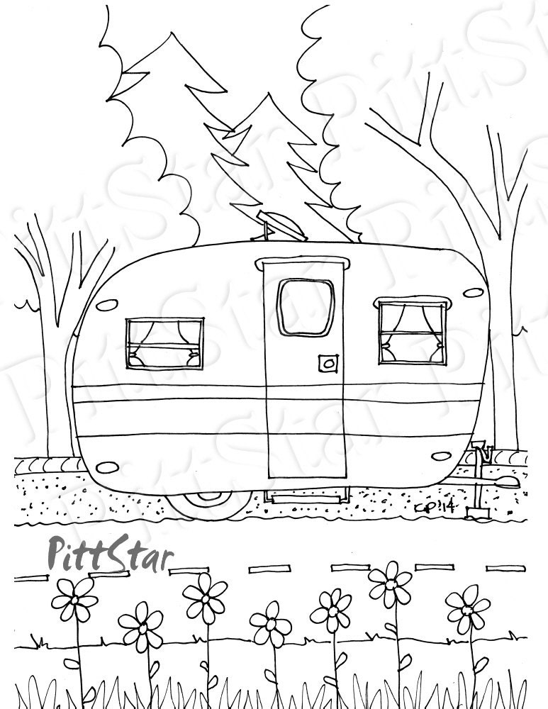vintage coloring pages etsy - photo#13