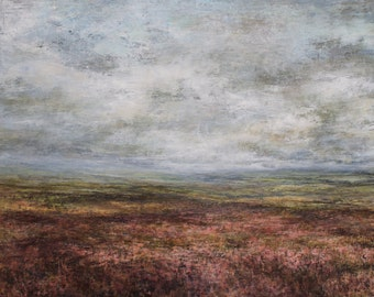 North Yorks Moors Signed Limited Edition Art Print Heather Goathland Castleton Rosedale Grosmont Lealholme Original Oil Landscape Painting