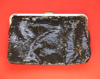 Black and silver sequins pocket