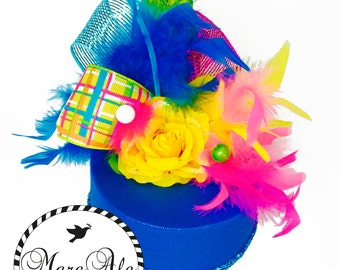 Turquoise, Yellow and Fuchsia Party Hat