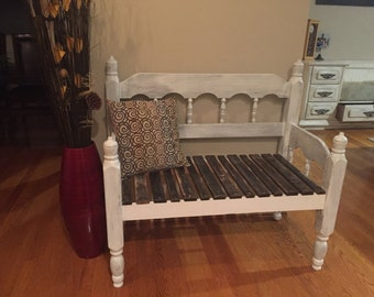 Rustic Bench from Upcycled Bed