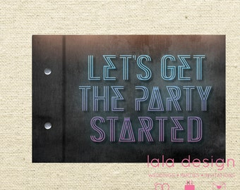 """Guestbook A4 - """"Get The Party Started"""""""