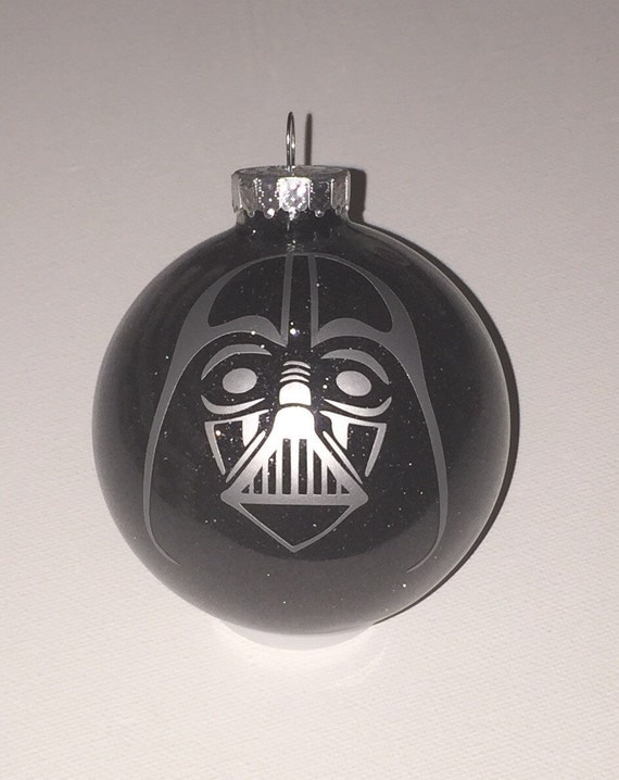 Star wars inspired darth vader christmas glitter ornament
