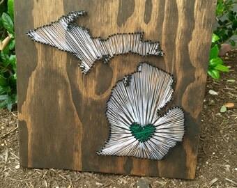 Custom Michigan State String Art