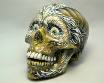 Brilliant Handmade Ceramic Airbrushed Day of the Dead Mexican Sugar Skull