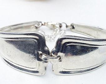 Spoon Bracelet, FREE Shipping, Spoon Jewelry, Vintage Silverware Bracelet, Silverspoon Bracelet, Silverware Jewelry, Antique Silverware