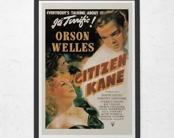 CLASSIC FILM POSTER -  Citizen Kane Poster - Orson Wells Movie Poster,  Cult Movie Poster, Classic Movie Poster