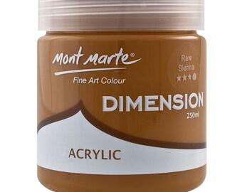 Mont Marte Dimension 250ml - Raw Sienna