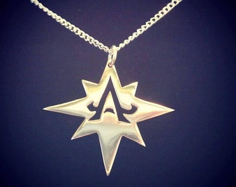 Alpha Star Sterling Silver Pendant 0.925