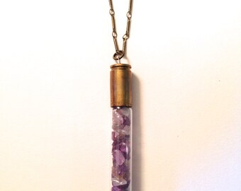 Amethyst mineral necklace