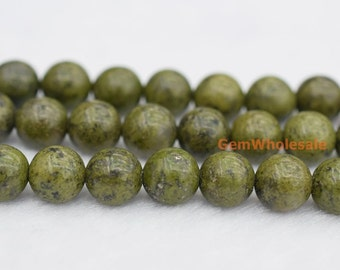 "15.5"" Green Chalcopyrite 6mm/8mm/10mm/12mm round beads, High quality green color stone beads"