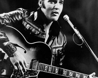 Elvis Presley Guitar Poster The King Of Rock N Roll Poster Prints