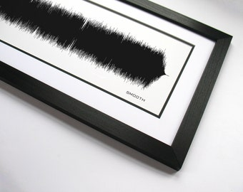 Smooth - Music Art Sound wave Print - Song Lyric Art, Band Poster