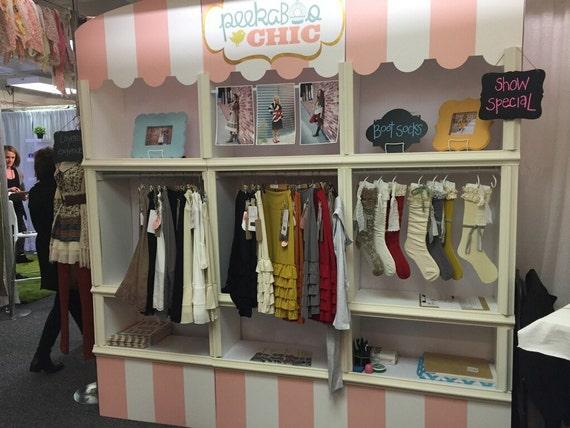 Clothing rack retail apparel display craft fair display for Retail shirt display ideas