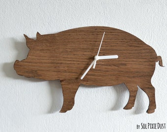 PIg - Wooden Wall Clock